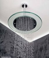 bathroom-decor-rain-shower-round-glass-frame