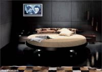 round-raised-black-leather-beds