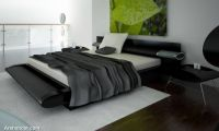 stylish-headboard-black-bed-design
