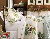 warm-beautiful-christmas-bedding-home-furnishings-white-printed-design