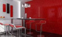 home-decor-decorative-wall-panels-red-wavy-design1