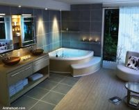 traditional-beautiful-bathroom-design-corner-bath-tub