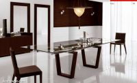 chic-lavish-dining-room-brown-chair-glass-table