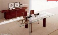 chic-lavish-dining-room-maroon-chair-glass-table