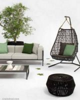 unique-hanging-swing-outdoor-garden-furniture-decor-brown-frame