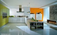 luxurious-orange-yellow-kitchen-designs
