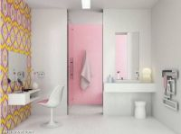 colorful-yellow-pink-glass-tiles-bathroom-decor